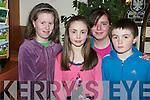 Listowel whizkids at the Kerry Community Games U14 quiz in Darby O'Gills, Killarney on Monday evening wereAmy McNamara, Bridget Sheehan, Geraldine Joy and Daniel Sheehan...