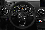 Car pictures of steering wheel view of a 2018 Audi A3 Sportback e tron Premium  5 Door Hatchback