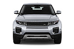 Car photography straight front view of a 2019 Land Rover Range-Rover-Evoque SE 5 Door SUV Front View