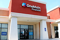 LOS ANGELES - APR 11:  OneMain Financial Storefront at the Businesses reacting to COVID-19 at the Hospitality Lane on April 11, 2020 in San Bernardino, CA