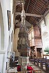 Church of Saint Mary of the Assumption, Ufford, Suffolk, England, UK  fifteenth century baptismal font cover