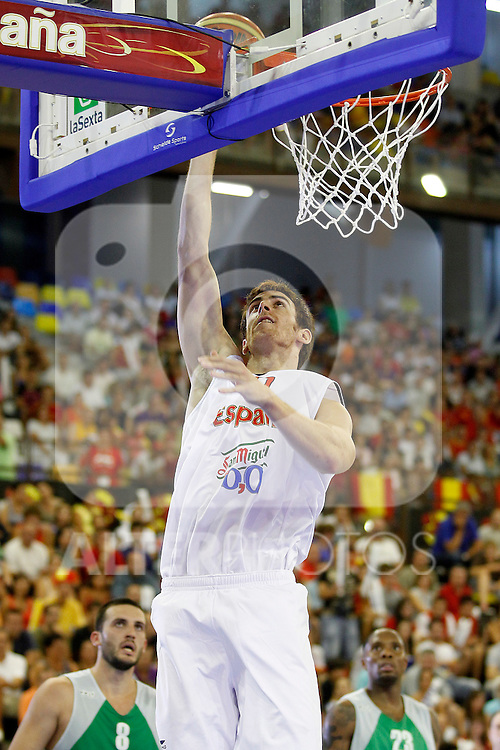 Spain's Victor Claver during friendly match.August 13,2011. (ALTERPHOTOS/Acero)