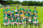 Young Knocknagoshel footballers at the Knocknagoshel pattern weekend fair on Sunday