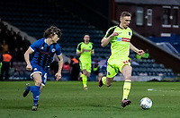 Bolton Wanderers' Ethan Hamilton breaks away from  Rochdale's Luke Matheson (left)  <br /> <br /> Photographer Andrew Kearns/CameraSport<br /> <br /> The EFL Sky Bet League One - Rochdale v Bolton Wanderers - Saturday 11th January 2020 - Spotland Stadium - Rochdale<br /> <br /> World Copyright © 2020 CameraSport. All rights reserved. 43 Linden Ave. Countesthorpe. Leicester. England. LE8 5PG - Tel: +44 (0) 116 277 4147 - admin@camerasport.com - www.camerasport.com