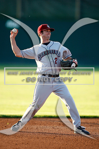 July 27, 2009:  Shortstop Kyle Smith of the Mahoning Valley Scrappers during a game at Dwyer Stadium in Batavia, NY.  Mahoning Valley is the NY-Penn League Short-Season Class-A affiliate of the Cleveland Indians.  Photo By Mike Janes/Four Seam Images