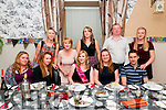 30th Birthday : Kate Woulfe, Glin celebrating her 30th birthday with family at Eabha Joan's Restaurant, Listowel on Saturday night last. Front : Liz Brambley, Laura Mullally, Kate Woulfe, Marie Mulvihill & Jerry Costello. Back : Julie O'Neill, Trish Woulfe, Angela Hogan, Sean Mulvihill & Nuala Costello.