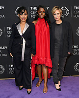 """19 November 2019 - Beverly Hills, California - Amirah Vann, Aja Naomi King, Liza Weil. The Paley Center Celebrates The Final Season Of """"How To Get Away With Murder""""<br />  held at The Paley Center for Media. Photo Credit: Birdie Thompson/AdMedia"""