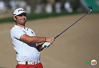 Andy Sullivan (ENG) plays to the 14th during the Final Round of the 2016 Omega Dubai Desert Classic, played on the Emirates Golf Club, Dubai, United Arab Emirates.  07/02/2016. Picture: Golffile | David Lloyd<br /> <br /> All photos usage must carry mandatory copyright credit (&copy; Golffile | David Lloyd)