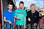 Martin Lacey (Greyhound Bar), John Evans (An Shebeen) and Jim Kelly (Greyhound Bar) are ready for action in the Spud and Spoon Race in Rock St on Monday.