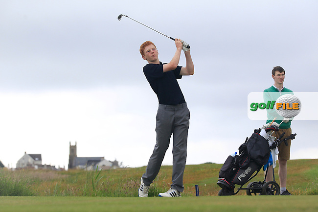 John Murphy (Kinsale) on the 4th tee during Round 3 of the Ulster Boys Championship at Castlerock Golf Club on Wednesday 2nd July 2015.<br /> Picture:  Golffile | Thos Caffrey