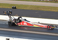 Sep 4, 2017; Clermont, IN, USA; NHRA top fuel driver Doug Kalitta during the US Nationals at Lucas Oil Raceway. Mandatory Credit: Mark J. Rebilas-USA TODAY Sports