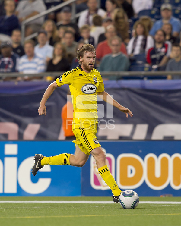 Columbus Crew midfielder Eddie Gaven (12) at midfield. The New England Revolution tied Columbus Crew, 2-2, at Gillette Stadium on September 25, 2010.
