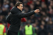 17th March 2019, Craven Cottage, London, England; EPL Premier League football, Fulham versus Liverpool; Fulham Manager Scott Parker gives out instructions