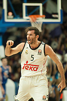Real Madrid´s Rudy Fernandez during 2014-15 Euroleague Basketball match between Real Madrid and Anadolu Efes at Palacio de los Deportes stadium in Madrid, Spain. December 18, 2014. (ALTERPHOTOS/Luis Fernandez) /NortePhoto /NortePhoto.com