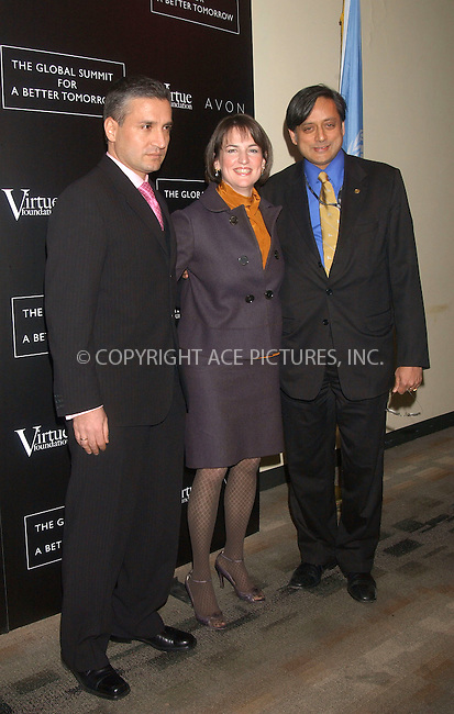WWW.ACEPIXS.COM . . . . . ....March 7 2007, New York..Josseph Salim, Joan LaRovere and Shashi Tharoor attended the 'Global Summit for a Better Tomorrow' symposium hosted by the Virtue Foundation at the United Nations building in Manhattan. ....Please byline: KRISTIN CALLAHAN - ACEPIXS.COM.. . . . . . ..Ace Pictures, Inc:  ..(646) 769 0430..e-mail: info@acepixs.com..web: http://www.acepixs.com