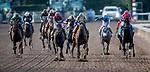 November 2, 2019: Blue Prize, ridden by Joe Bravo, wins the Longines Breeders' Cup Distaff on Breeders' Cup World Championship Saturday at Santa Anita Park on November 2, 2019: in Arcadia, California. Michael McInally/Eclipse Sportswire/CSM