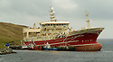 19/10/2005         Copyright Pic : James Stewart.File Name : jspa02 shetland fish.THE SUPER TRAWLER, ALTAIRE, DWARFS OTHER BOATS AS IT SITS AT THE PIER AT THE COLLA FIRTH ON SHETLAND...Payments to :.James Stewart Photo Agency 19 Carronlea Drive, Falkirk. FK2 8DN      Vat Reg No. 607 6932 25.Office     : +44 (0)1324 570906     .Mobile   : +44 (0)7721 416997.Fax         : +44 (0)1324 570906.E-mail  :  jim@jspa.co.uk.If you require further information then contact Jim Stewart on any of the numbers above.........