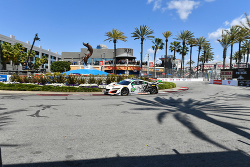 2017 IMSA WeatherTech SportsCar Championship<br /> BUBBA burger Sports Car Grand Prix at Long Beach<br /> Streets of Long Beach, CA USA<br /> Saturday 8 April 2017<br /> 93, Acura, Acura NSX, GTD, Andy Lally, Katherine Legge<br /> World Copyright: Richard Dole/LAT Images<br /> ref: Digital Image RD_LB17_313