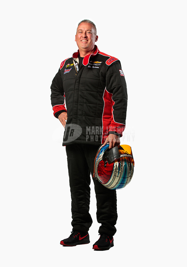 Feb 6, 2019; Pomona, CA, USA; NHRA pro stock driver Bo Butner poses for a portrait during NHRA Media Day at the NHRA Museum. Mandatory Credit: Mark J. Rebilas-USA TODAY Sports