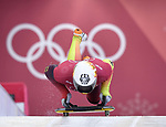 Alexander Gassner (GER). Skeleton training. Alpensia sliding centrePyeongchang2018 winter Olympics. Alpensia. Republic of Korea. 13/02/2018. ~ MANDATORY CREDIT Garry Bowden/SIPPA - NO UNAUTHORISED USE - +44 7837 394578