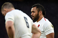 Billy Vunipola of England looks on. Guinness Six Nations match between England and France on February 10, 2019 at Twickenham Stadium in London, England. Photo by: Patrick Khachfe / Onside Images