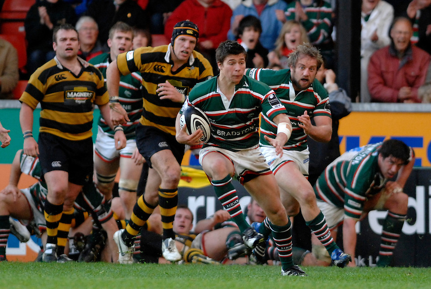 Photo: Richard Lane..Leicester Tigers A v London Wasps A. Guinness A League Final. 07/05/2007. .Tigers' Ben Youngs attacks.