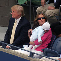 DONALD & MELANIA TRUMP AND BABY BARRON  2006<br /> Photo By John Barrett-PHOTOlink.net
