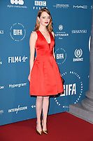 LONDON, UK. December 02, 2018: Emma Stone at the British Independent Film Awards 2018 at Old Billingsgate, London.<br /> Picture: Steve Vas/Featureflash