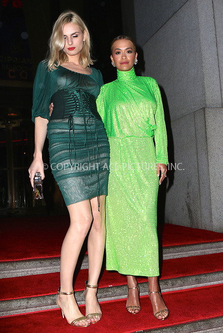 www.acepixs.com<br /> <br /> April 27 2017, New York City<br /> <br /> Rita Ora (R) and Andreja Pejic arriving at the 11th Annual DKMS Big Love Gala at Cipriani Wall Street on April 27, 2017 in New York City. <br /> <br /> By Line: Nancy Rivera/ACE Pictures<br /> <br /> <br /> ACE Pictures Inc<br /> Tel: 6467670430<br /> Email: info@acepixs.com<br /> www.acepixs.com
