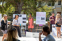 Maya Crawford, Power 106<br /> 2018 InternLA student participants share their poster presentations about their summer experiences working as interns in Los Angeles. Summer Experience Expo, Sept. 13, 2018 in the Academic Quad. Hosted by Career Services.<br /> (Photo by Marc Campos, Occidental College Photographer)