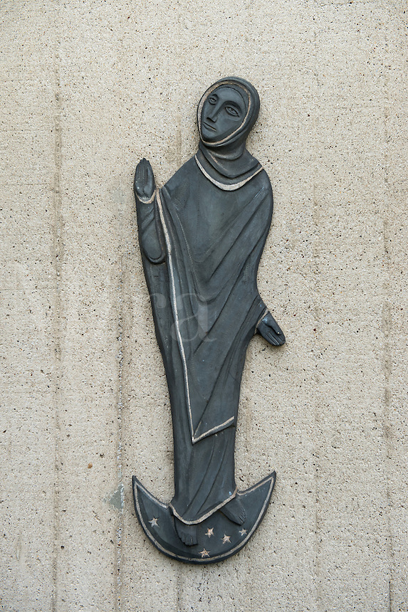 Blessed Mother wall sculpture.