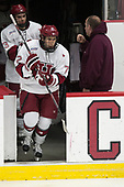 Nathan Krusko (Harvard - 13), Phil Zielonka (Harvard - 72) - The Harvard University Crimson defeated the St. Lawrence University Saints 6-3 (EN) to clinch the ECAC playoffs first seed and a share in the regular season championship on senior night, Saturday, February 25, 2017, at Bright-Landry Hockey Center in Boston, Massachusetts.