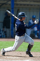 14 September 2009: Third base Christopher Falls of Great Britain is seen at bat during the 2009 Baseball World Cup Group F second round match game won 15-5 by South Korea over Great Britain, in the Dutch city of Amsterdan, Netherlands.