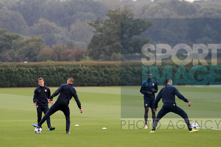 Arsenals Jack Wilshere during training