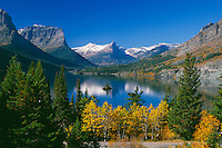 Aspens, Saint Mary Lake and Wild Goose Island<br />