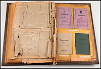 BNPS.co.uk (01202 558833)<br /> Pic: Ratisbons/BNPS<br /> <br /> Detailed archive resurfaced in Argentina.<br /> <br /> A personal archive belonging to a hero German pilot of the First World War who fought to bring down the Nazis in the second has been discovered.<br /> <br /> Emil Buge flew on 37 sorties against the British on the Western Front, dropping 27 bombs, 128 grenades and firing 9,500 rounds of ammunition.<br /> <br /> Despite his heroics in 1918, Buge was imprisoned at a murderous concentration camp by his own country in the Second World War as a political prisoner. He used his position as an inmate clerk to gather evidence of SS atrocities.