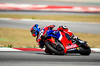 8th July 2020; Circuit de Barcelona Catalunya, Barcelona, Spain; FIM Superbike World Championship tests;  Day One; Leon Haslam of the Team HRC rides the Honda CBR1000RR R