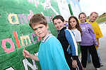 Colm Smith, Patrick Manning, Amy Turley, Emer Lawless and Emer Carroll at the Green Flag Initiative Mural Painting at St.Colmcilles NS, Tullydonnell...Picture Jenny Matthews/Newsfile.ie