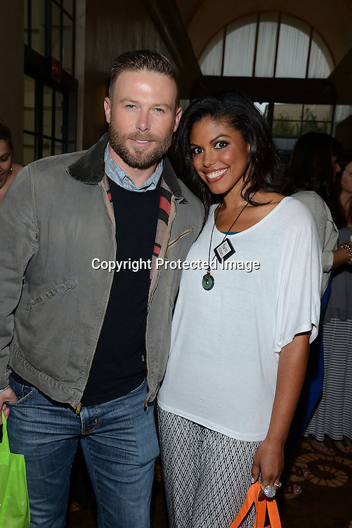 Jacob Young and Carla Mosley attends the 2015 Daytime Emmy Gifting Suite on April 25, 2015 at Warner Brothers Stuido Lot  in Burbank, California, USA. The gift lounge was presented by OffTheWallIdeas.com.