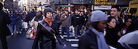 "Out takes from ""The Harvard Design School Guide to Shopping"" published by Tashen. Crowds of shoppers on thanksgiving weekend on 34th st. NY 2000"