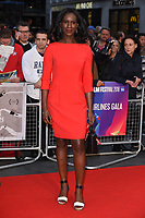 LONDON, UK. October 12, 2018: Moyo Akande at the London Film Festival screening of &quot;The Ballad of Buster Scruggs&quot; at the Cineworld Leicester Square, London.<br /> Picture: Steve Vas/Featureflash