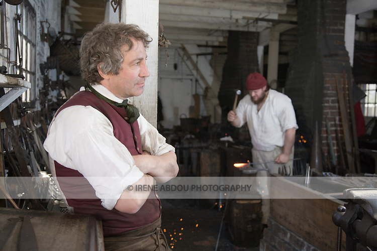 Blacksmith's workshop at Colonial Williamsburg, Virginia.