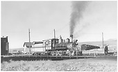 3/4 engineer's-side view of D&amp;RGW #268 on the Gunnison turntable.<br /> D&amp;RGW  Gunnison, CO  Taken by Richardson, Robert W. - 11/3/1952
