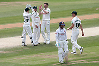 Harry Gurney of Notts celebrates taking the wicket of Adam Wheater during Essex CCC vs Nottinghamshire CCC, Specsavers County Championship Division 1 Cricket at The Cloudfm County Ground on 23rd June 2018