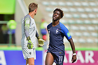 17th November 2019; Bezerrao Stadium, Brasilia, Distrito Federal, Brazil; FIFA U-17 World Cup football 3rd placed game 2019, Netherlands versus France; Arnaud Kalimuendo-Muinga of France celebrates his goal in the 22nd minute, 1-1 - Editorial Use