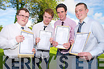 Daire Reidy, Luke Bartlett, Donald McSweeney and Gary Daly were delighted after they all achieved over 500 points in their leaving cert in St Brendans College, Killarney on Wednesday.