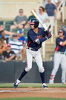 Braden Shewmake (39) of the Rome Braves at bat against the Kannapolis Intimidators at Kannapolis Intimidators Stadium on July 3, 2019 in Kannapolis, North Carolina.  The Braves defeated the Intimidators 13-11, (Brian Westerholt/Four Seam Images)