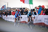 Laura Verdonschot (BEL) & Katerina Nash (CZE)<br /> <br /> Women's Elite Race<br /> UCI 2020 Cyclocross World Championships<br /> Dübendorf / Switzerland<br /> <br /> ©kramon
