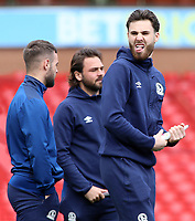 Blackburn Rovers' Ben Brereton jokes about before kick off<br /> <br /> Photographer David Shipman/CameraSport<br /> <br /> The EFL Sky Bet Championship - Nottingham Forest v Blackburn Rovers - Saturday 13th April 2019 - The City Ground - Nottingham<br /> <br /> World Copyright © 2019 CameraSport. All rights reserved. 43 Linden Ave. Countesthorpe. Leicester. England. LE8 5PG - Tel: +44 (0) 116 277 4147 - admin@camerasport.com - www.camerasport.com