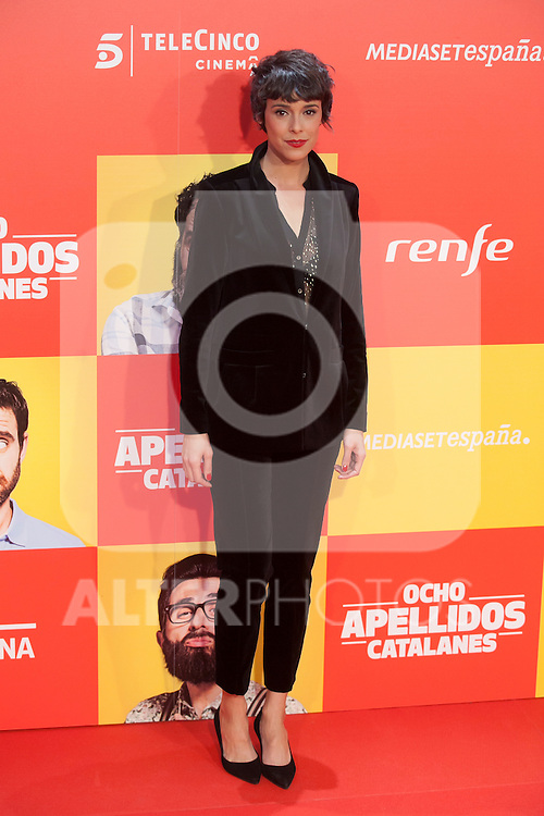Spanish actress Belen Cuesta poses during `8 apellidos catalanes´ film premiere in Madrid, Spain. November 18, 2015. (ALTERPHOTOS/Victor Blanco)